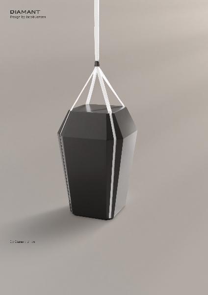 Jacob Jensen Urne: Diamant schwarz